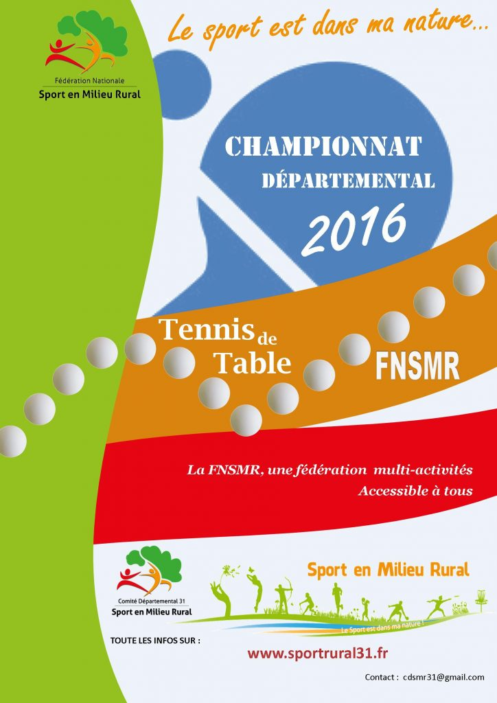 Tennis de table cdsmr 31 - Federation francaise de tennis de table ...